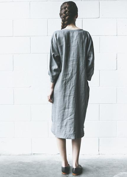 Sunja Link Linen Tunic | Grey