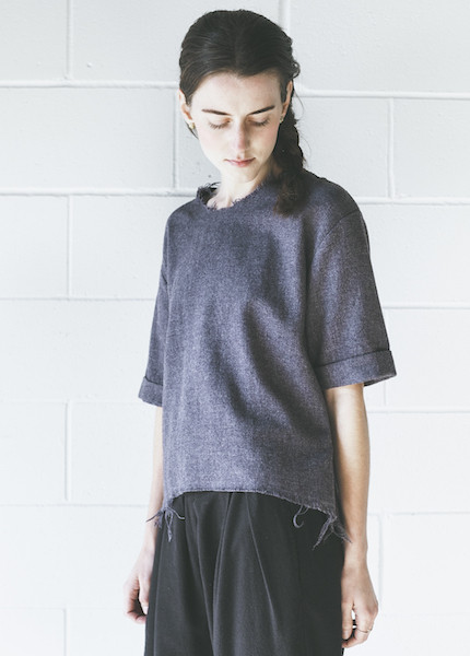 Black Crane Wide Top | Purple