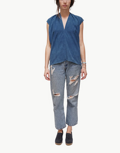Indigo Everyday Top, Silk