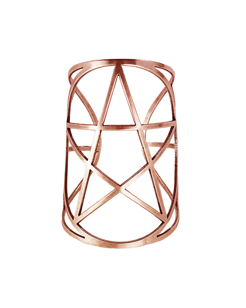 Pamela Love Mini Pentagram Cuff in Rose Gold