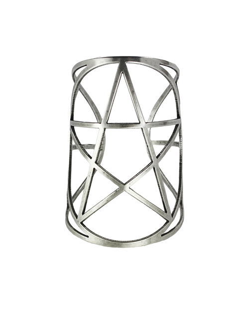 Pamela Love Mini Pentagram Cuff in Antique Silver