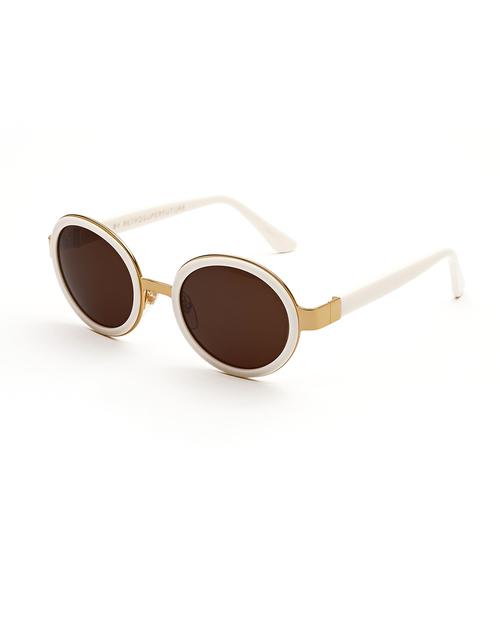 RetroSuperFuture Santa Sunglasses in Tintarella Cream