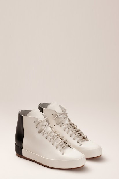 FEIT BiColor High White/Black Shoe