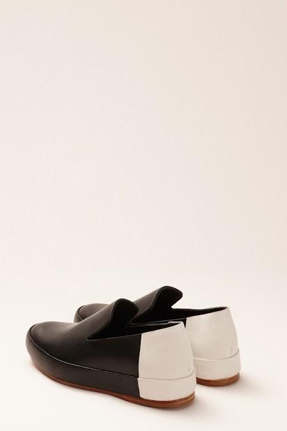 FEIT BiColor Slipper Black/White Shoe