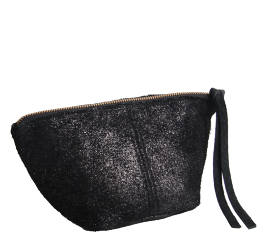 Johnston Raw Leather Pouch