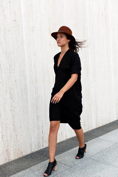 Flash Sale Black Muse Dress, Silk