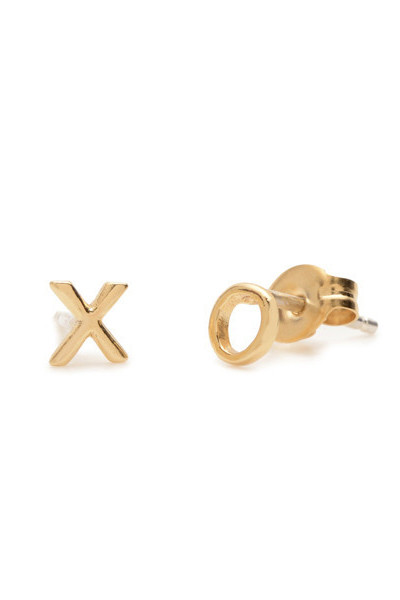 "Bing Bang NYC Tiny ""XO"" Studs"