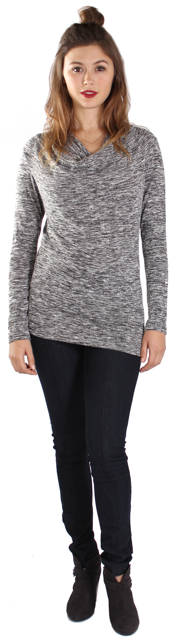 Michael Farrell Cowl Neck Top