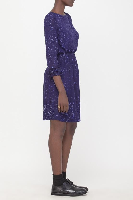 Osei-Duro Aburi Dress in Navy Splatter