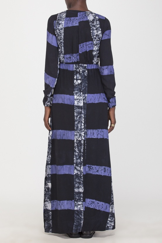 Osei-Duro Mallam Dress in Cobalt Grid