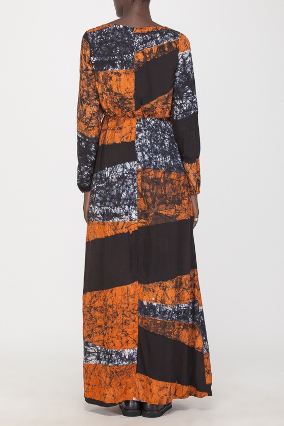 Osei-Duro Mallam Dress Coral Drift