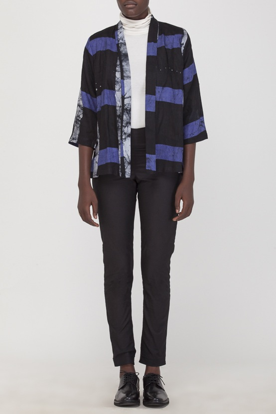 Osei-Duro Arca Jacket in Cobalt Grid