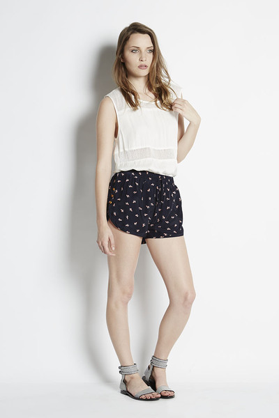 N/TICE Printed Satin Track Shorts