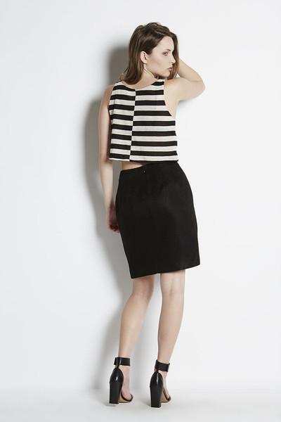 N/TICE Mesh Stripe Jersey Crop Top