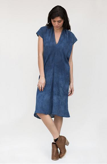 GRATITUDE COLLECTION Indigo Everyday Dress, Cotton