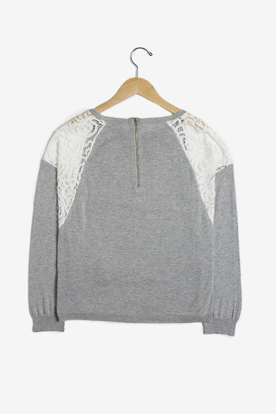 See U Soon Lace Shoulder Sweater