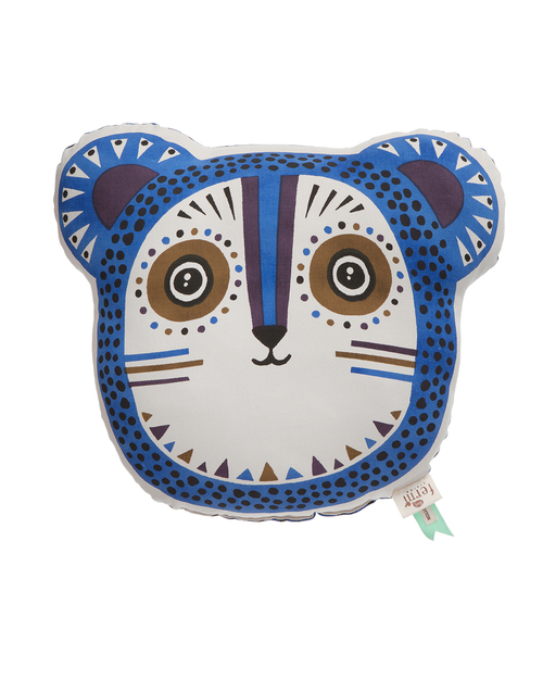 Ferm Living Billy Bear Organic Cotton Cushion in Blue