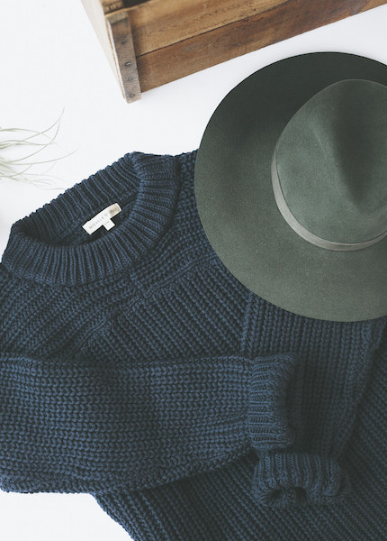 Micaela Greg Arch Sweater in Blue Black