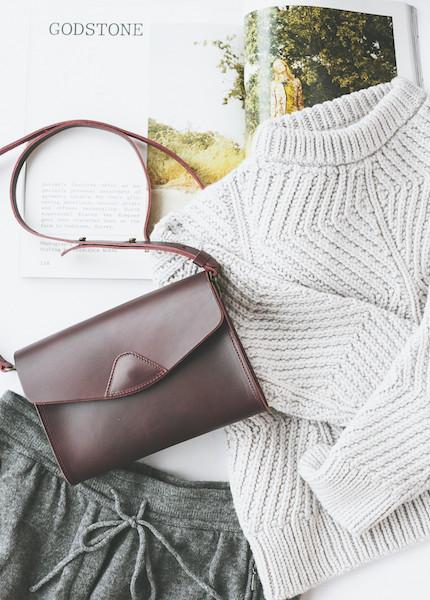 Micaela Greg Bevel Sweater in Pale Silver