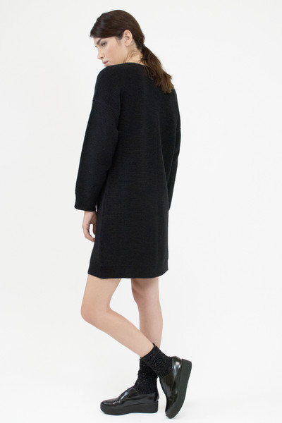 Micaela Greg RIPPLE SWEATER DRESS - BLACK