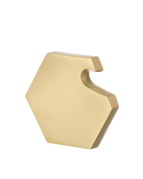 Ferm Living Hexagon Brass Bottle Opener