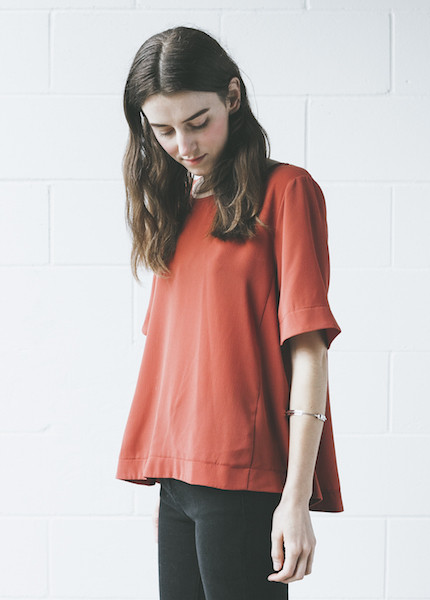 C+L Finds - Curranne Blouse in Rust