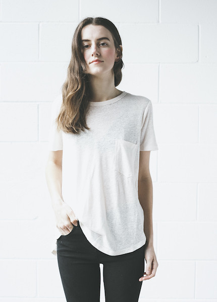 C+L Finds - Willa Pocket Tee in Blush