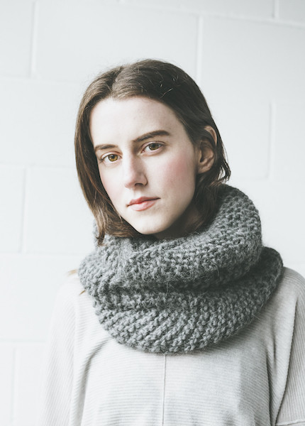 Bare Knitwear Mauro Cowl in Charcoal