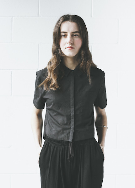 C+L Finds Carmie Cropped Blouse in Black
