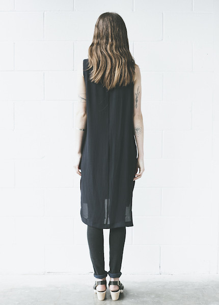 C+L Finds - Liza Slit Tunic in Navy