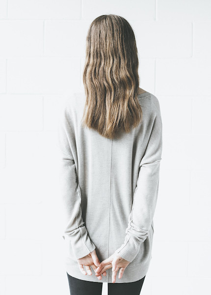 Line Knitwear - Vernon in Limestone