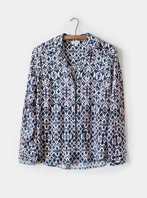 Splendid Button Front Print