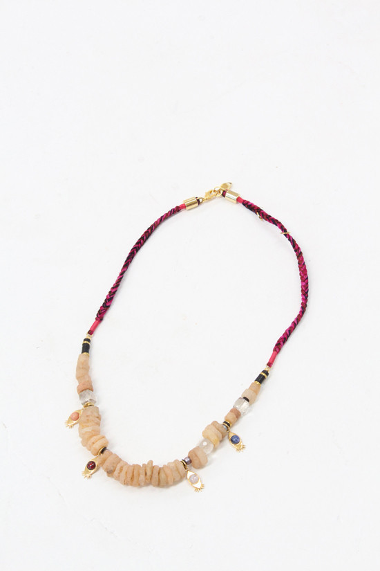 Lizzie Fortunato Far Away Eyes Necklace