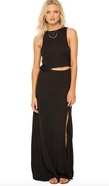 AMUSE SOCIETY Rivea Maxi Dress - Black