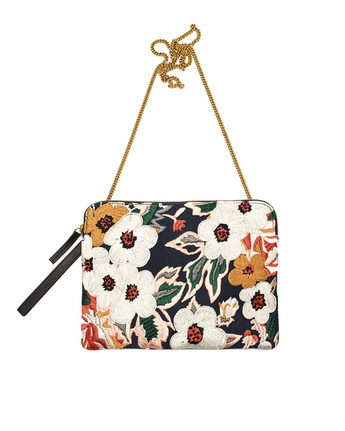 Lizzie Fortunato Safari Clutch in Caribbean Floral