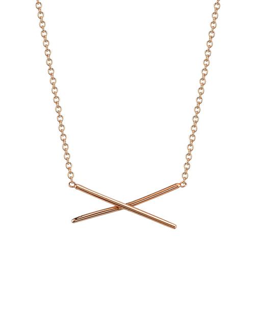 Gabriela Artigas X Necklace in 14K Rose Gold