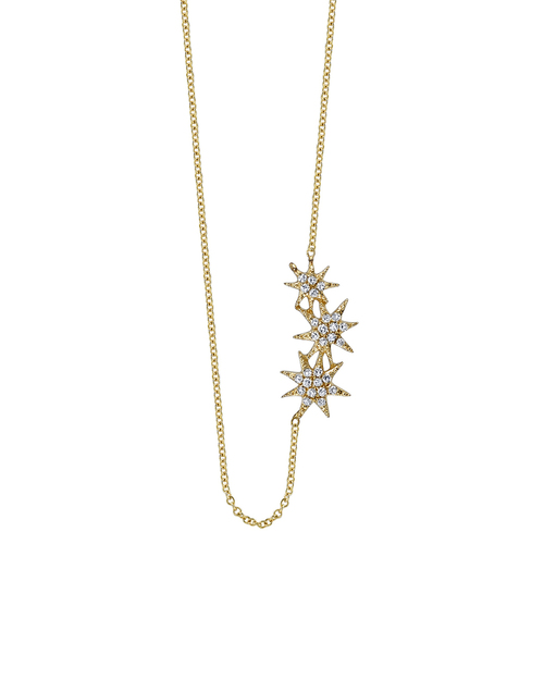 Gabriela Artigas Pave Shooting Star Necklace in 14K Yellow Gold