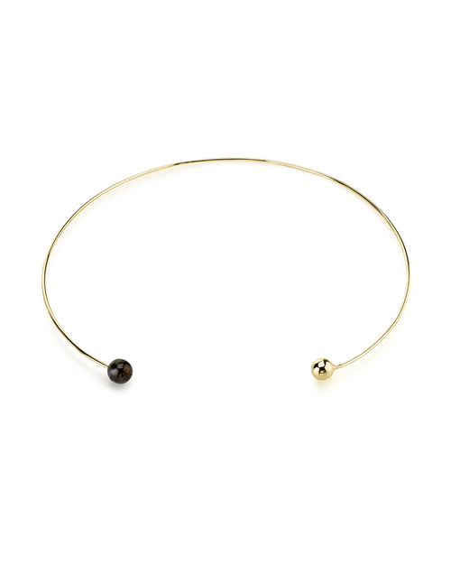Gabriela Artigas Gold & Black Pearl Orbit Choker