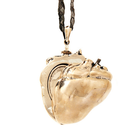 COEURAGE HUMAN HEART NECKLACE