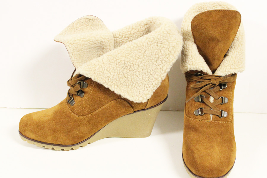 kelsi dagger shearling lined wedge boot from blush