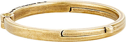 Giles & Brother Brass Latch Cuff Oval Bracelet