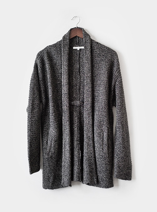 Bella Luxx Shawl Cardigan Charcoal