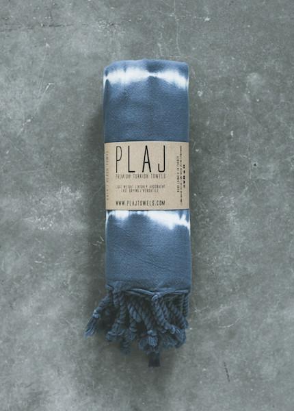 Plaj -  Pender Towel in Indigo Tye Dye