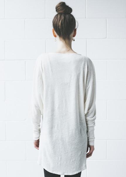 Dolan - Round Shoulder Tunic in Cream