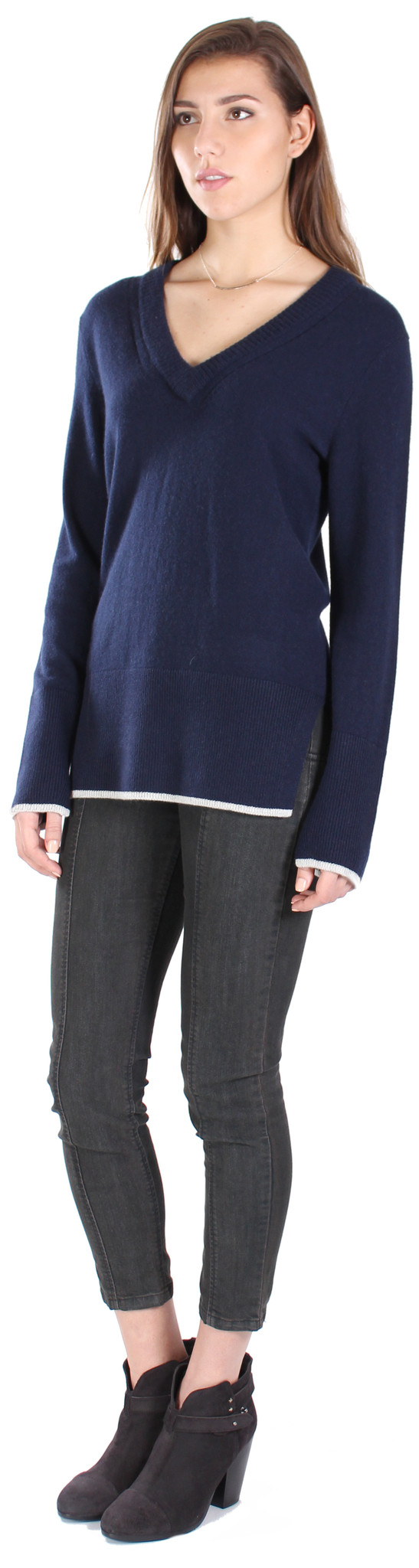 Rag & Bone Flavia V Neck Cashmere Sweater