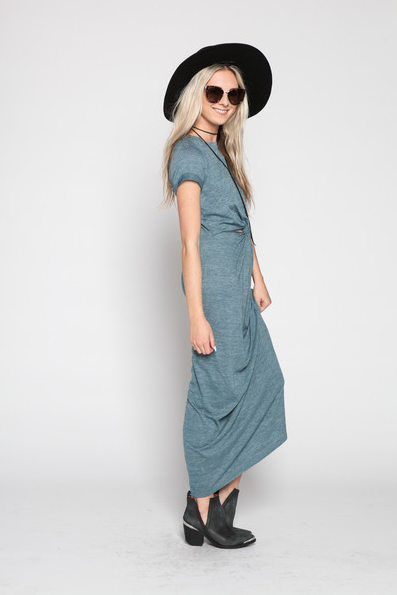 WONDERLAND HONOLULU Charli Knotted Maxi Dress