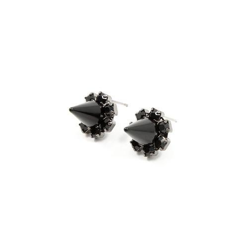 Joomi Lim Black Out Crystal Stud Earrings