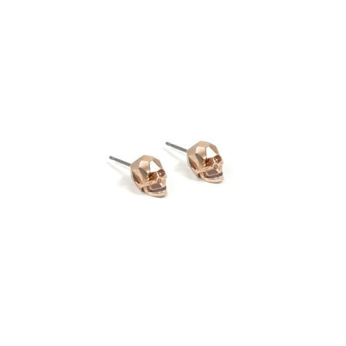 Joomi Lim London Calling Rose Gold Skull Studs