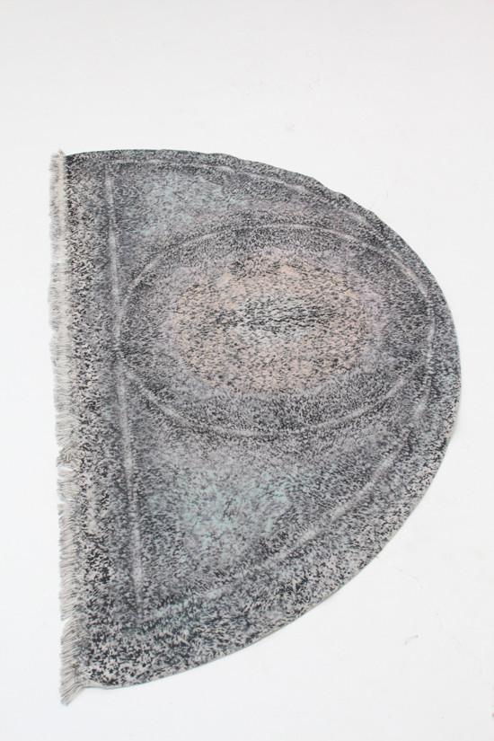 Anntian Printed Half Circle Rug