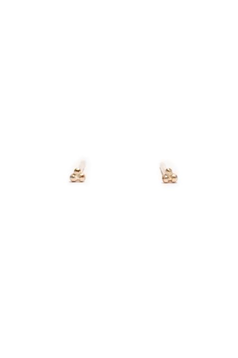 Tridot Earrings 10K Gold